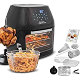 MediaShop Power Air Fryer Multi-Function Deluxe – Heißluft-Fritteuse zum Frittieren ohne Öl – 6-in-1 auch als Dörrautomat, zum Grillen u. v. m. – bis zu 80% weniger Fett